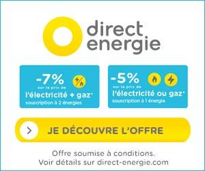 Direct Énergie - Électricité moins chère jusqu'à 100% d'origine renouvelable