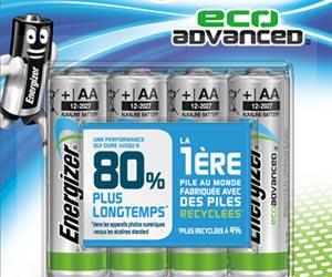 EcoAdvanced™ : la 1ère pile AA au monde fabriquée avec des piles recyclées