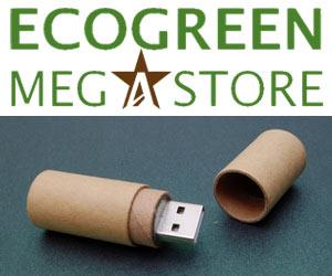 EcoGreen MegaStore : clés USB écologiques et recyclables pour entreprise