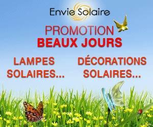 Envie Solaire : lampes, décorations et accessoires solaires