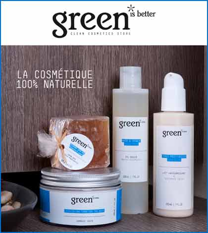 Green is better cosmetics - La beauté 100% naturelle