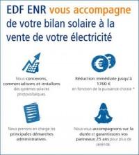 EDF ENR - Accompagnement depuis le bilan solaire à la vente d'électricité verte
