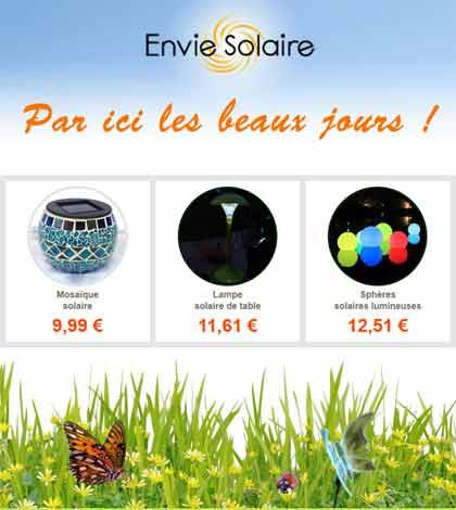 Enviesolaire.com - Boutique en ligne d'articles solaires
