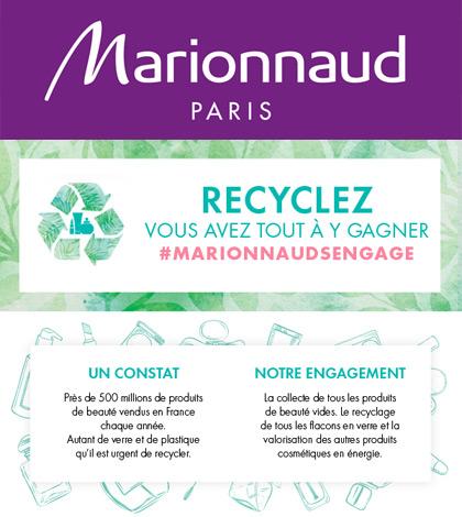 Marionnaud recycle les produits de beauté