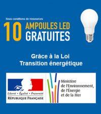 10 ampoules LED gratuites grâce à la loi de transition énergétique