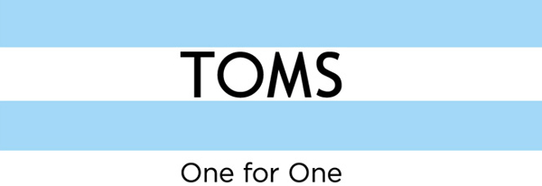 TOMS one for one logo