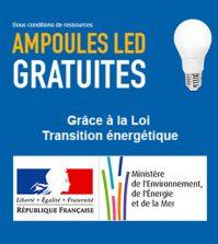 Ampoules LED gratuites grâce à la loi de transition énergétique