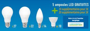 25 ampoules LED pour 2 euros - loi transition énergetique pour la croissance verte